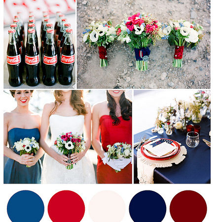 Red, White and Blue, 4th of July: Chattanooga Wedding Edition