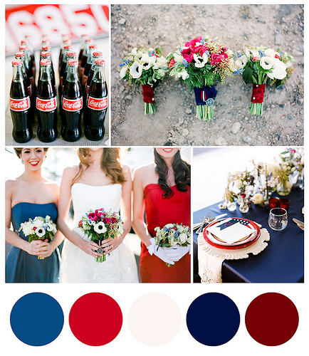 Red, White and Blue, 4th of July: Chattanooga Wedding Edition - Cue ...